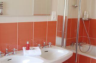 The Peach Bathroom