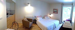 Chambre/Studio avec un lit de 160cm ou 2 lits simples& Cuisinette