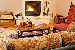 Relax in front of the fire in the Manor House