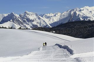 Cross country skiing at lssarbe